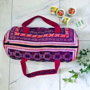 Handbags - Authentic Duffle Bag Embroidered- Thailand